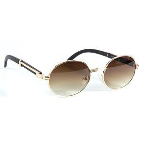 Mens Brown Tint Wood Grain Sunglasses